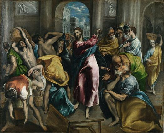 Anarchist Jesus Turning the Tables of the Moneychangers - Sovereign to Serf